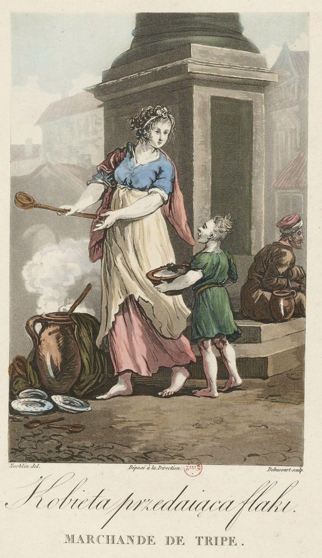 kobieta sprzedajaca flaki jan norblin