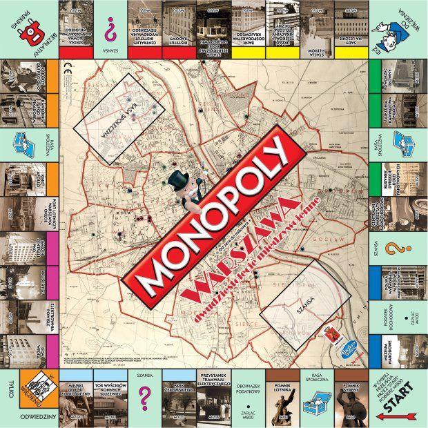 plansza monopoly warszawa dwudziestolecie miedzywojenne