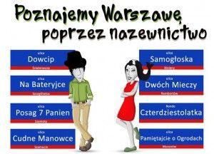 Poznajemy Warszawę poprzez nazewnictwo