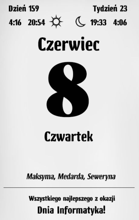 Kalendarz varsavski – czerwiec