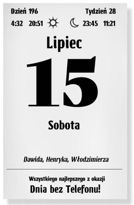 Kalendarz varsavski – lipiec