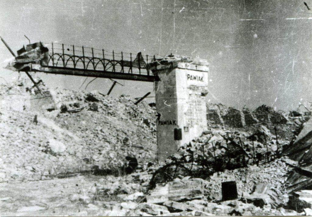 Pawiak – fragment ocalałej bramy wjazdowej, źródło: Muzeum Powstania Pawiak