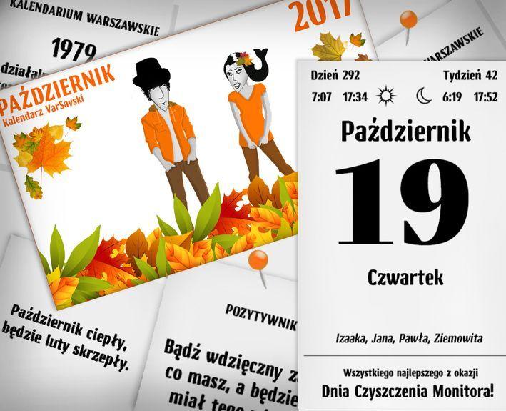 Kalendarz VarSavski Październik