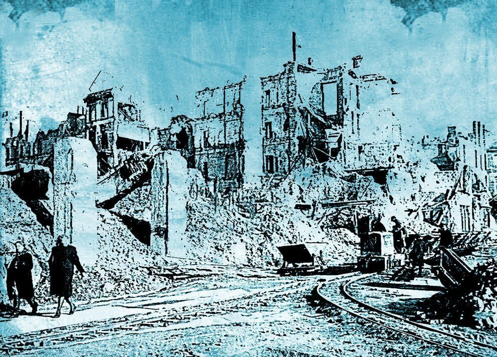 Warszawa lata 40.