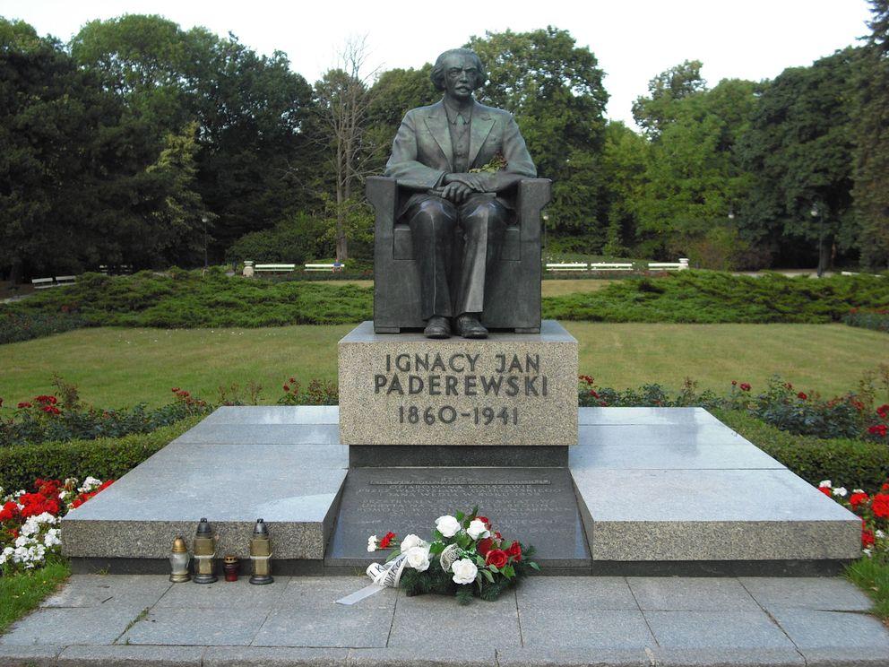 Park Ujazdowski Pomnik Paderewskiego