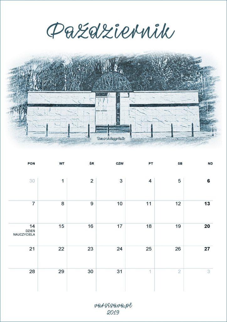 Kalendarz VarSavski październik 2019