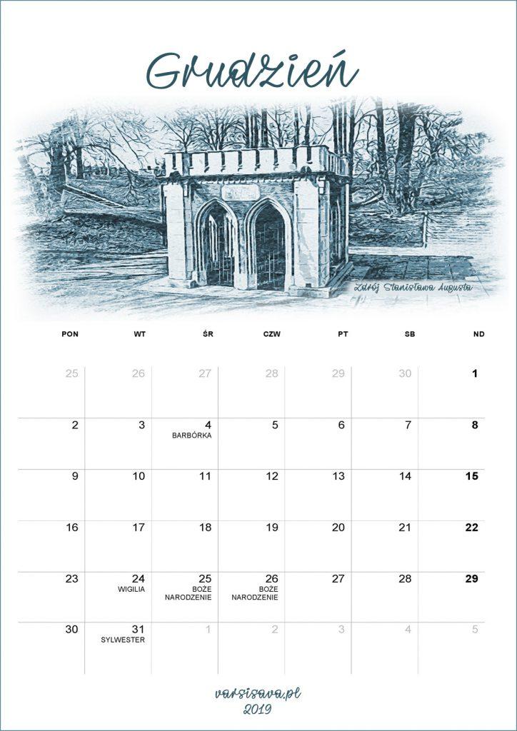Kalendarz VarSavski grudzień 2019