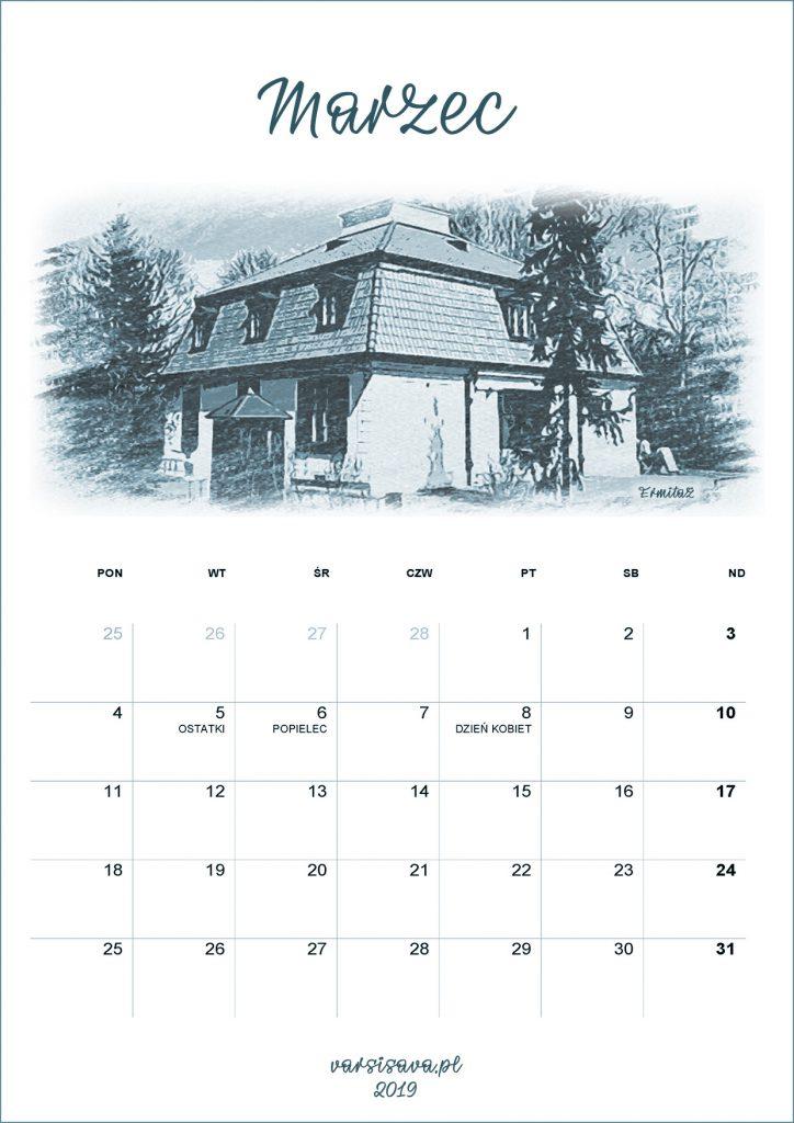 Kalendarz VarSavski Marzec 2019