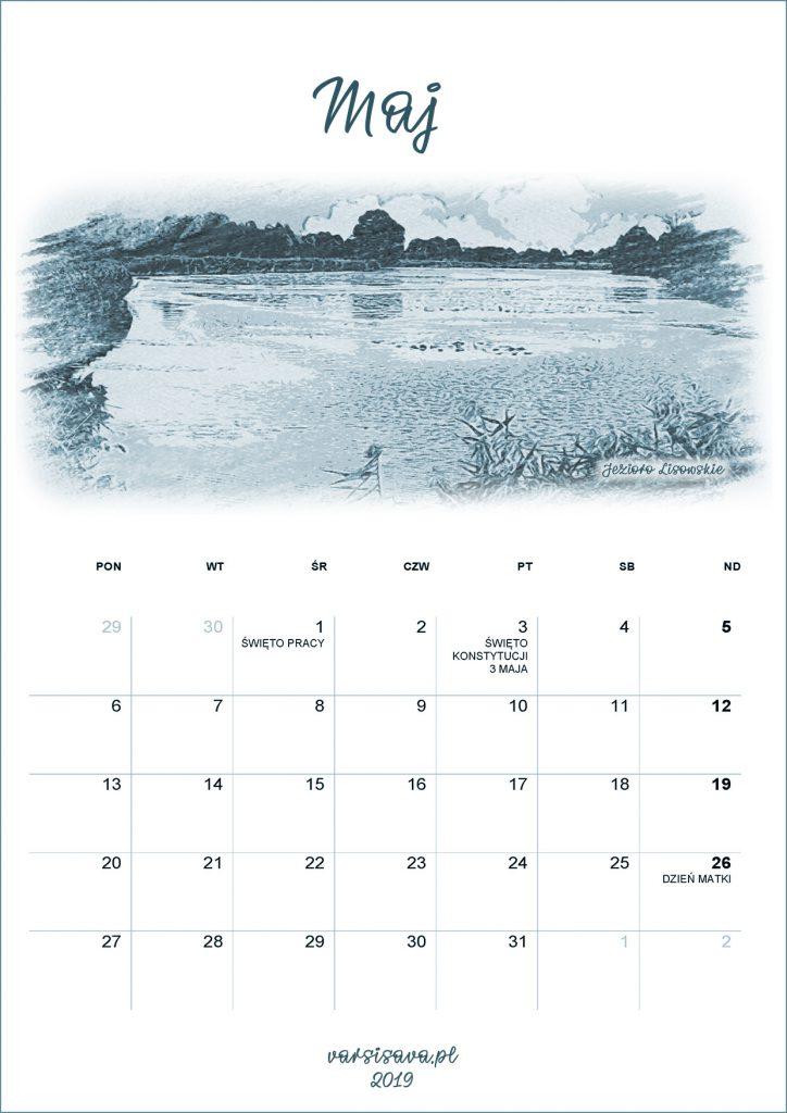 Kalendarz VarSavski maj 2019