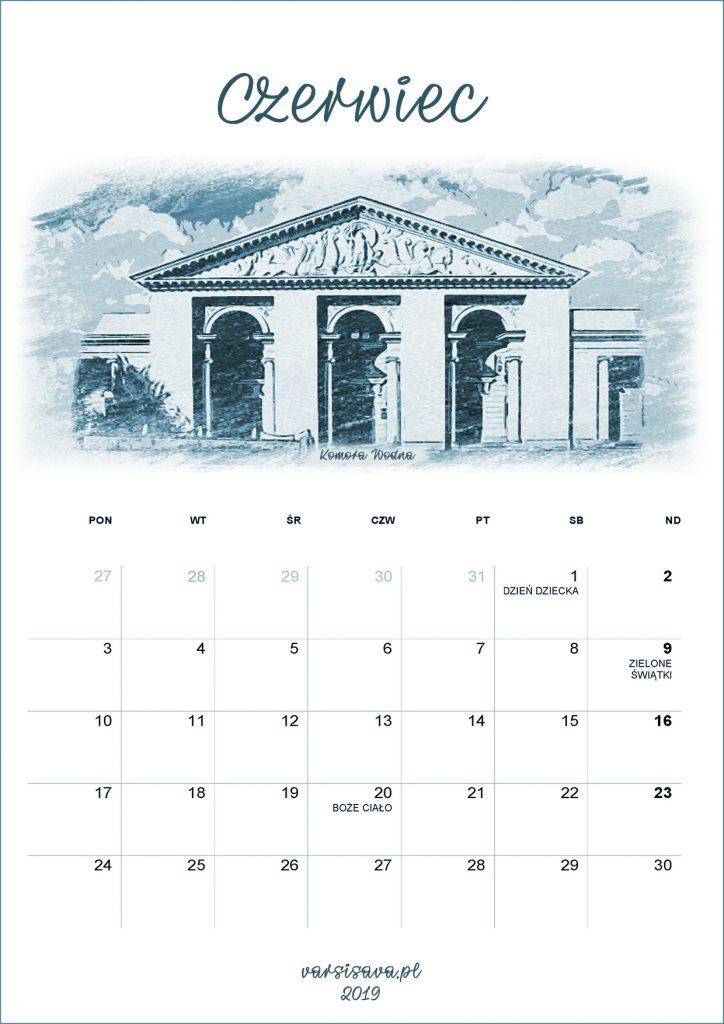 Kalendarz VarSavski czerwiec 2019