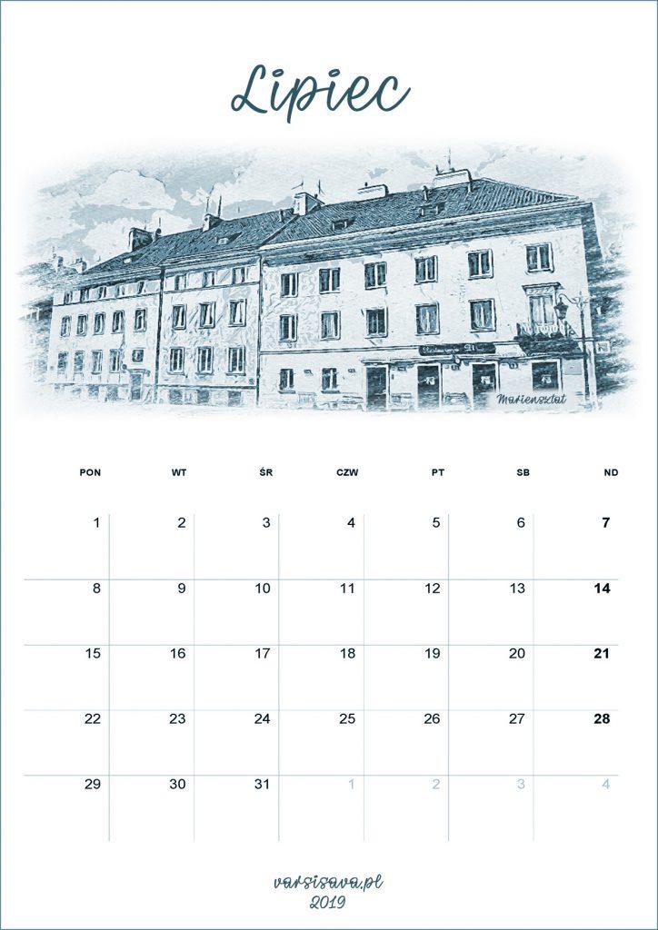 Kalendarz VarSavski lipiec 2019