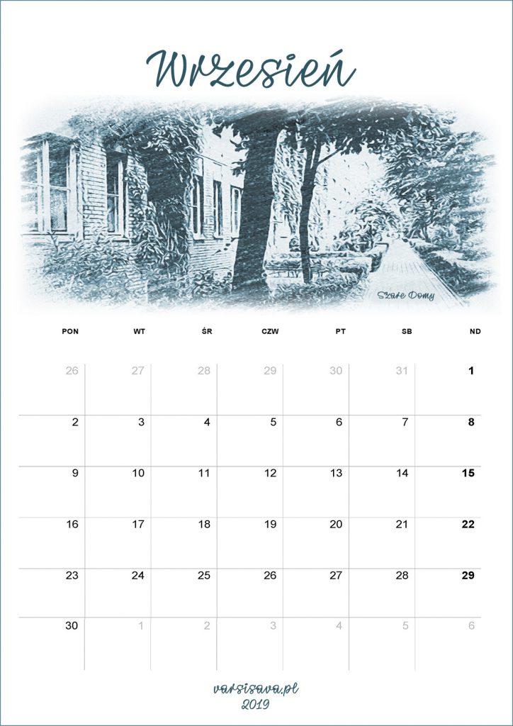Kalendarz VarSavski wrzesień 2019