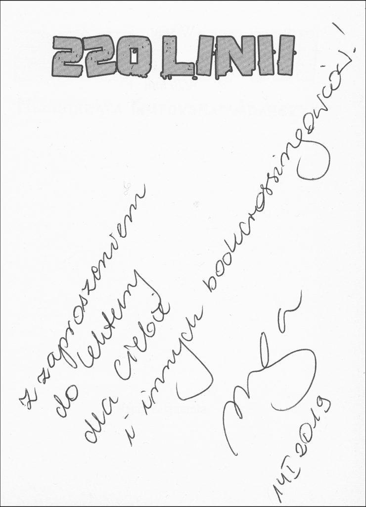 wiosenny bookcrossing autograf Małgorzaty Gutowskiej-Adamczyk