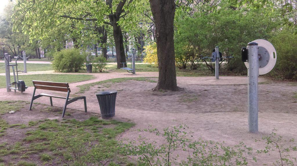 Ogród Krasińskich siłownia plenerowa
