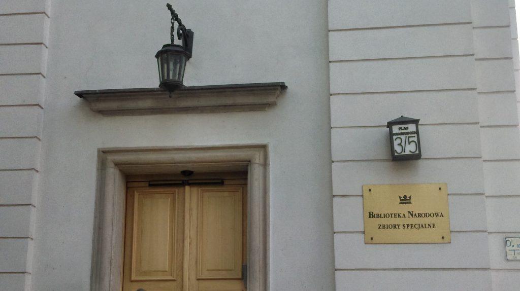 Pałac Krasińskich, Biblioteka Narodowa, Zbiory Specjalne