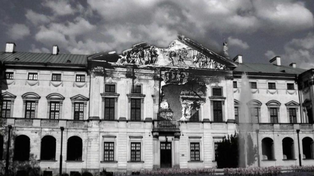Pałac Krasińskich zniszczenia wojenne