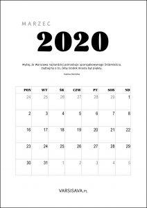 Kalendarz VarSavski 2020