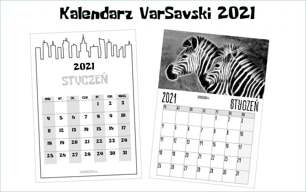 Kalendarz VarSavski 2021